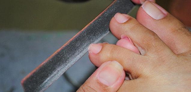 limar uñas pies