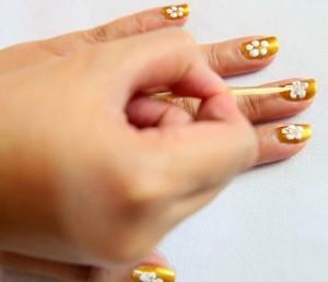 pintar uñas con rosas