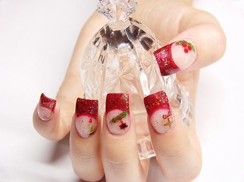 uñas bonitas de navidad