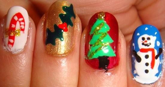 colores para uñas navidad