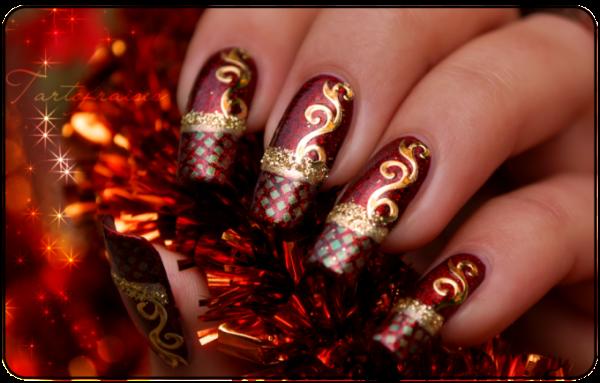uñas para la navidad