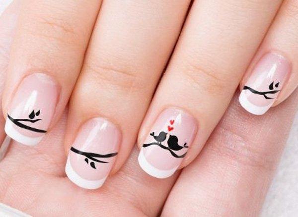 diseño de uñas san valentin