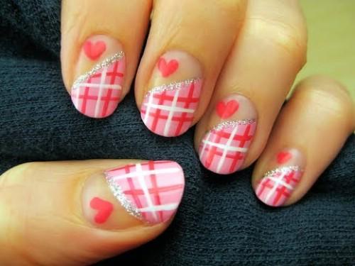 diseños de uñas por san valentin
