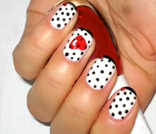 diseños de uñas san valentin