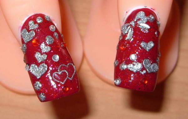 esmalte uñas san valentin