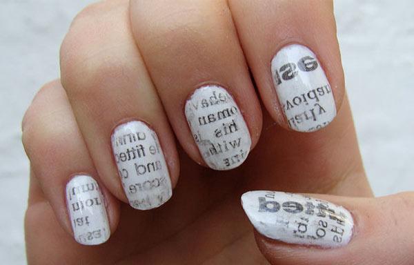 diseñar uñas periodico