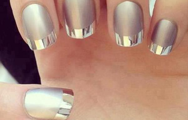 uñas de acrílico metalicas
