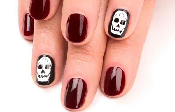 Uas Decoradas Con Calaveras Halloween Nail Art Get Vampire Fang And