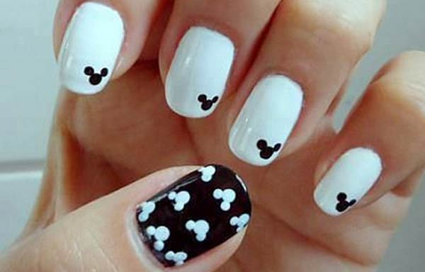 diseño uñas cortas minnie