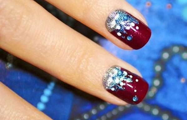 disenño uñas cortas de navidad