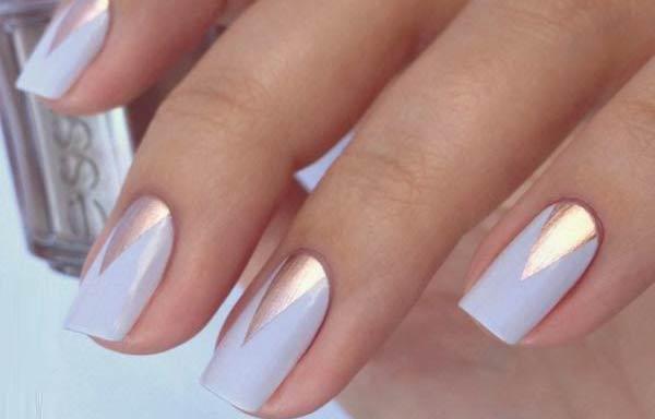 diseño uñas cortas triangulo