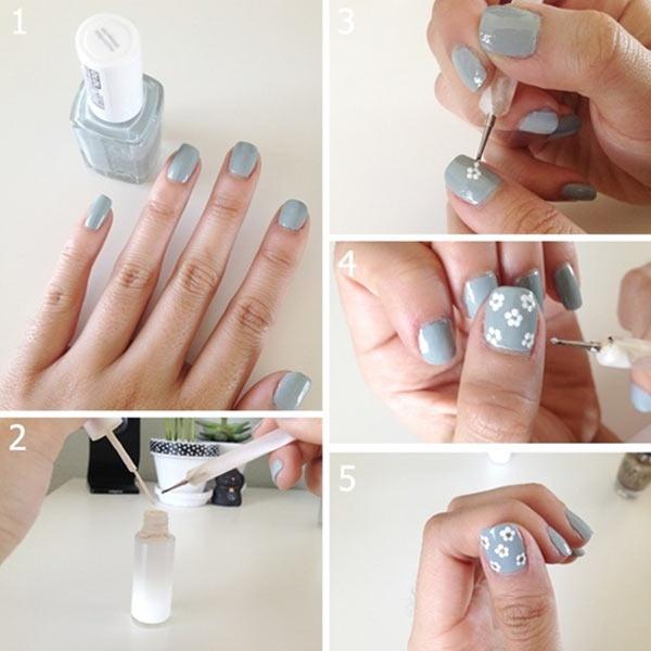 cómo hacer flores en uñas: tutorial