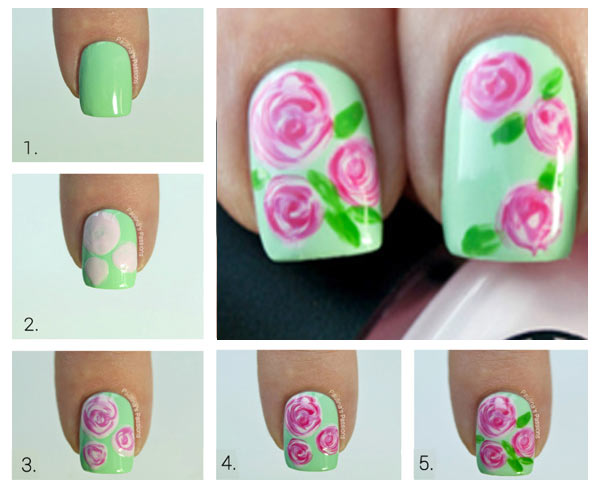 c mo hacer rosas en las u as tutorial u asdecoradas club