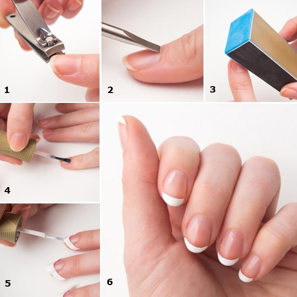 como hacer las uñas french