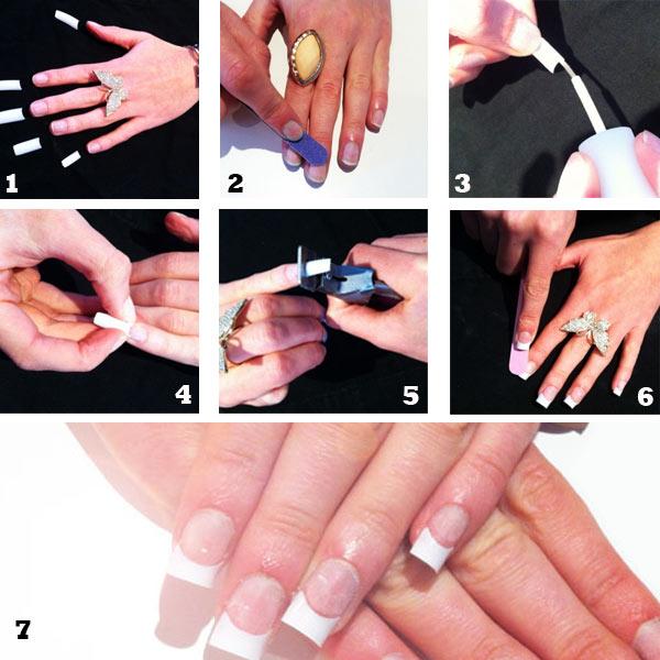 como poner uñas acrilicas con tips