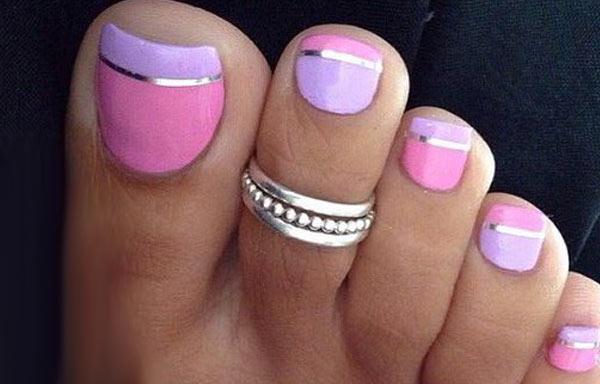 disño de uñas de los pies bello