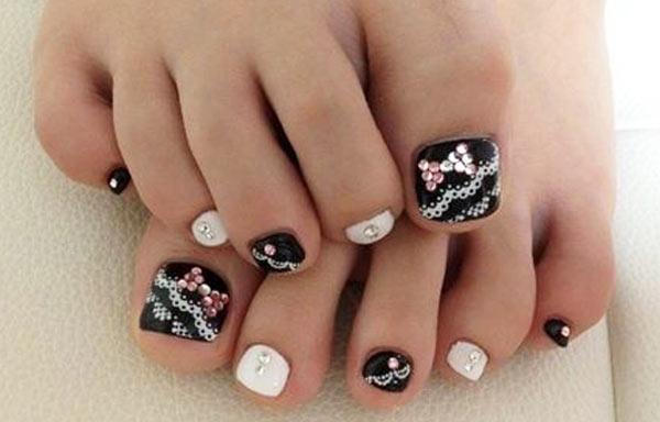diseño para uñas delos pies elegante