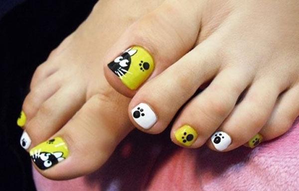 diseño para uñas delos pies lindos