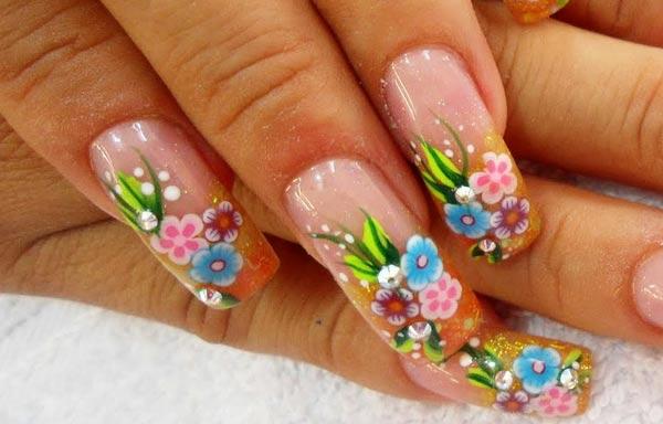 diseño de uñas en fotos - acrilicas