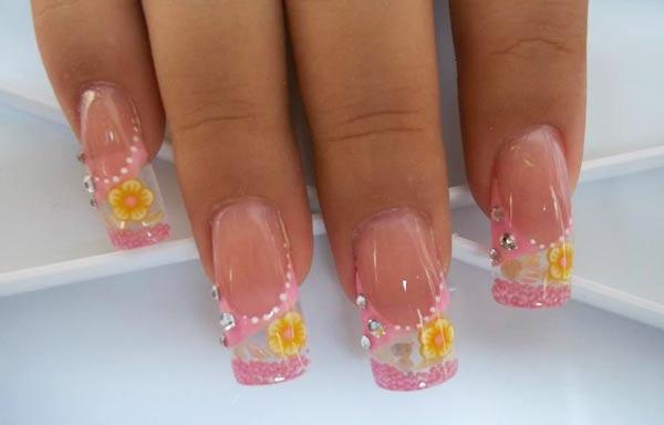 diseño de uñas en fotos - color