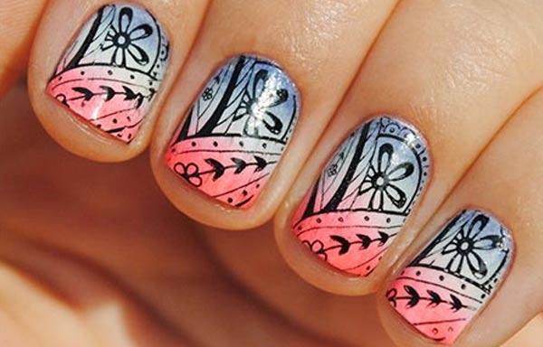 diseño de uñas en fotos - cortas