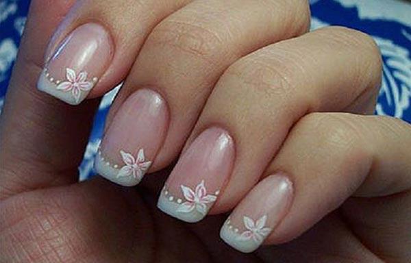 diseño de uñas en fotos - flor