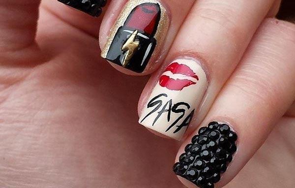 diseño de uñas en fotos - pintadas