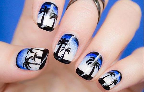 diseño de uñas en fotos - playa