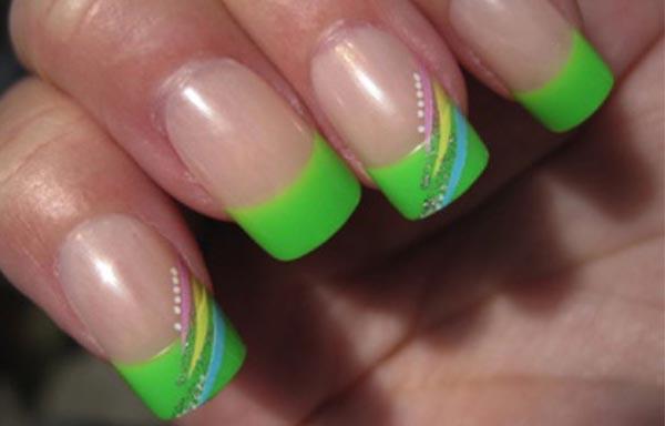 diseño de uñas en fotos - verde