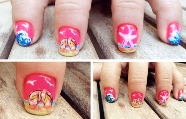 diseño uñas gel cortas