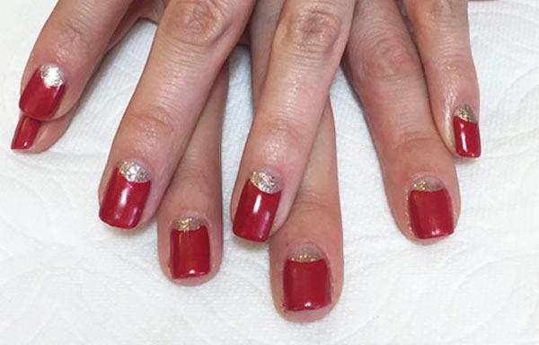 diseño uñas de gel rojas