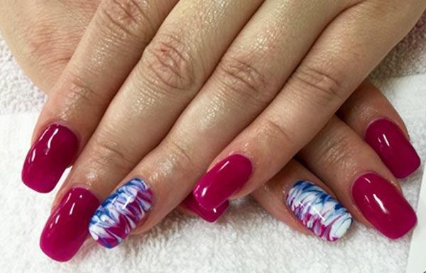 diseño de uñas con gelish aguas rojas