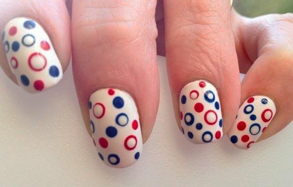 diseño de uñas con gelish lunares