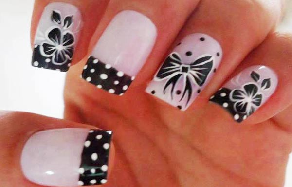 diseños de uñas bonitas francesas