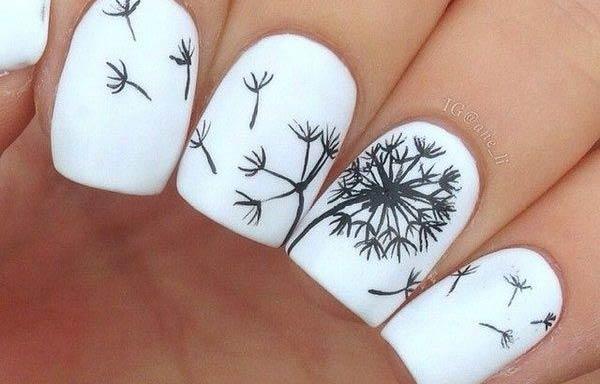 diseños uñas con esmalte dibujo