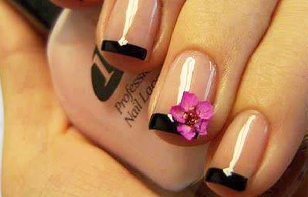 diseños uñas con esmalte frances