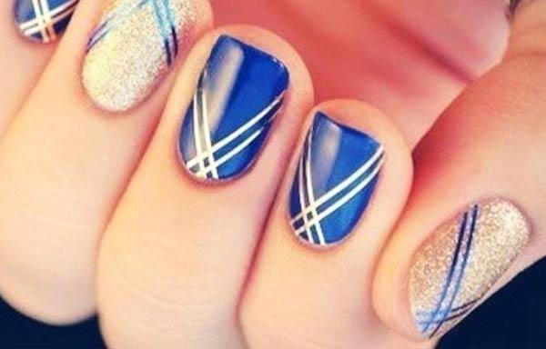 diseños uñas con esmalte rayas