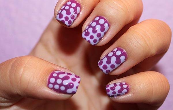 puntos perfectos en las uñas