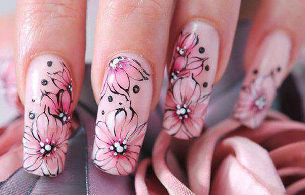 ver diseño uñas flores