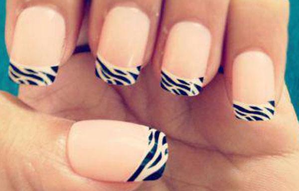 ver diseño uñas francesas rayas