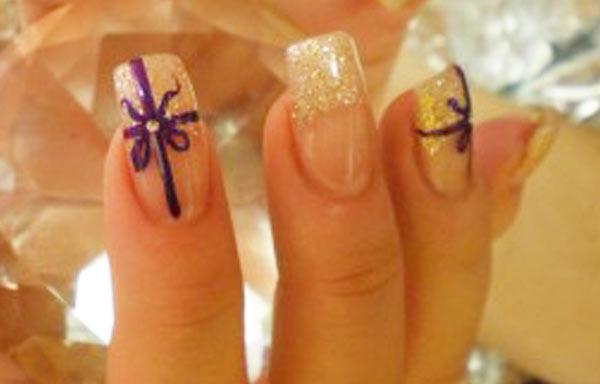 ver diseño uñas con lazos