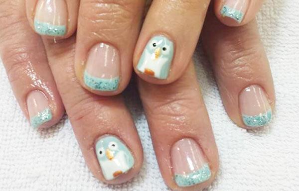 ver diseño uñas pinguinos