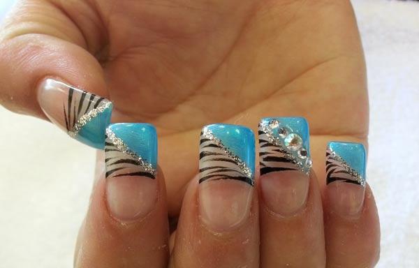 diseño para manicure acrilica