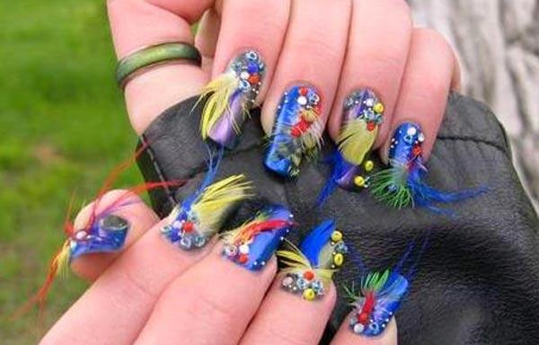 diseño de uñas 3d acrilicas