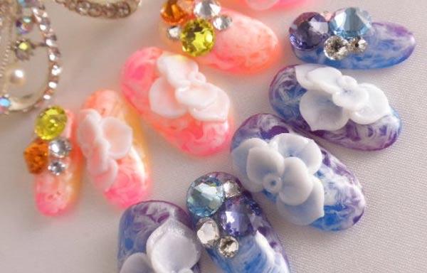 diseño de uñas 3d capsulas