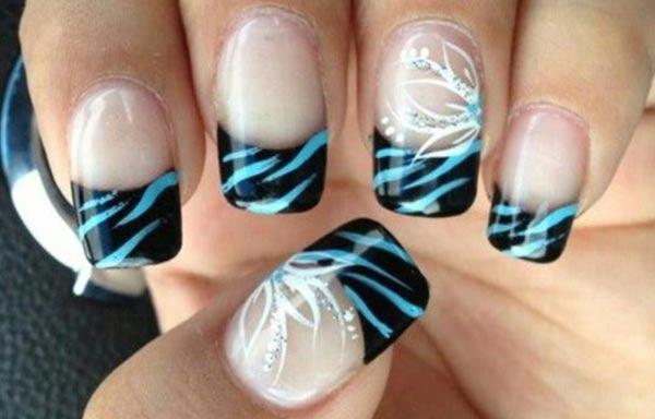 diseño de uñas cebra estilo