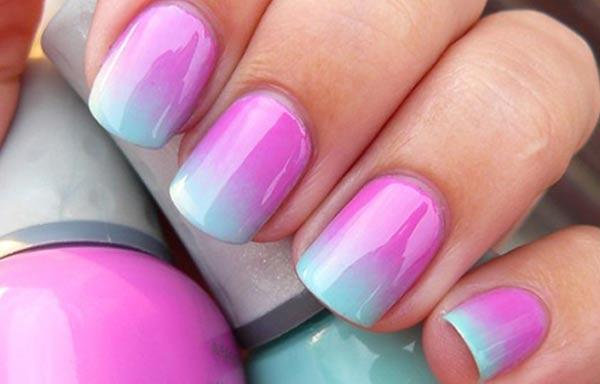 diseño de uñas con esponja degradado