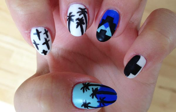 diseño de uñas hipster acrilico