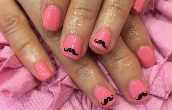 diseño de uñas hipster rosa