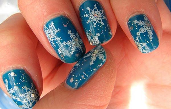 diseño de uñas invierno dibujo